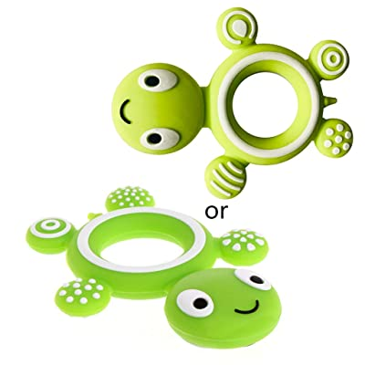 Ladaidra Safety Tortoise Baby Kids Food Grade Silicone Soother Teether Teething Pacifier: Toys & Games