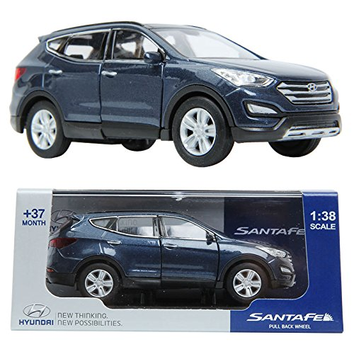 PINO B&D HYUNDAI SANTAFE 1:38 Diecast Miniature Display case BLUE Color by Pino B&D