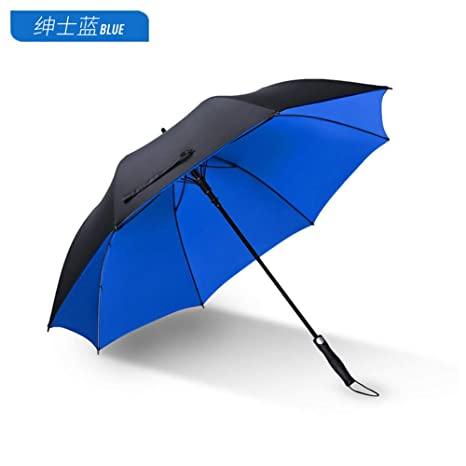 Paraguas Plegables Paraguas Automático Lluvia Femenina y Lluvia Doble Uso Mango Largo para Hombre Paraguas Paraguas