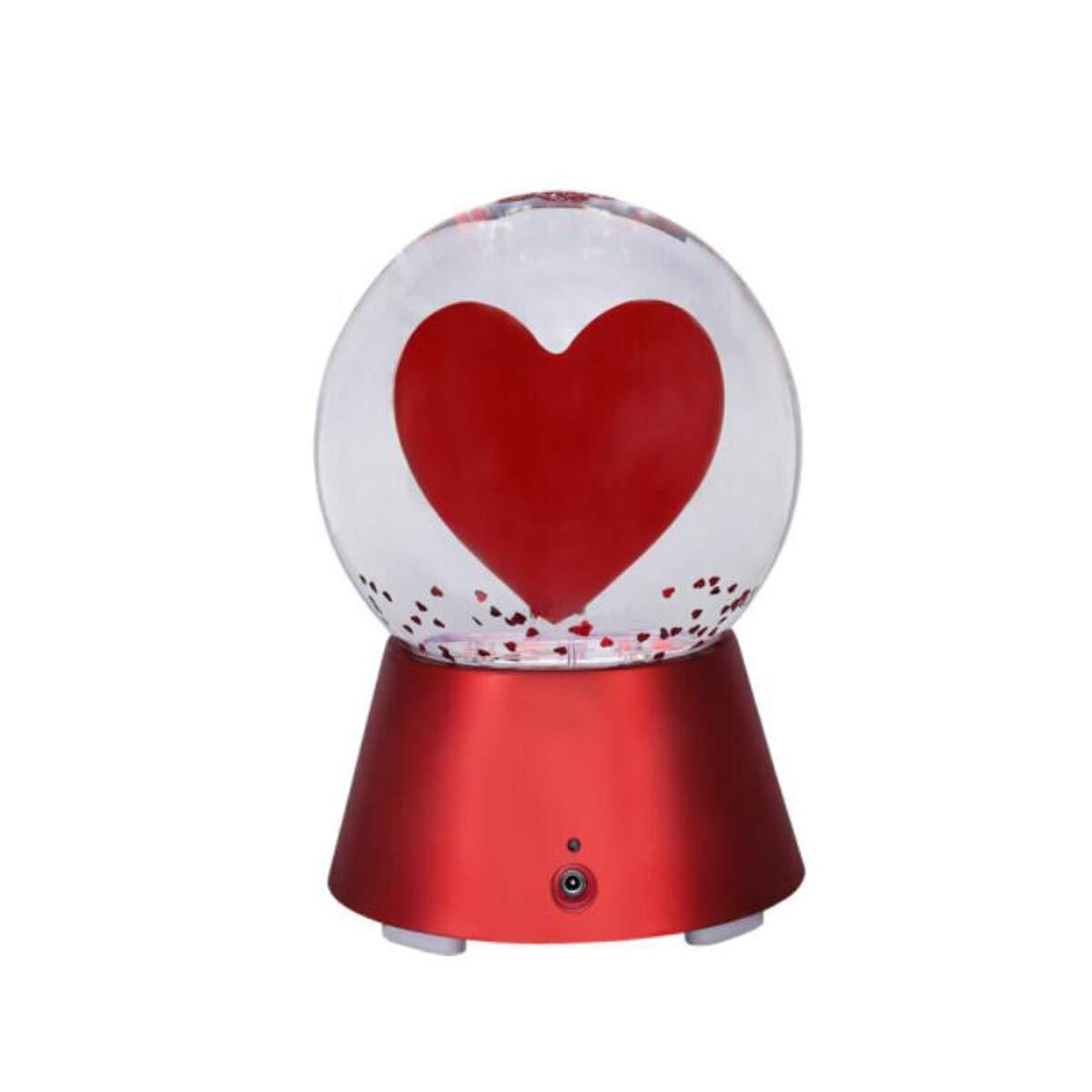 Boyuanweiye スピーカー、ラブクリスタルボール、Bluetoothステレオナイトライト、USBクリエイティブバレンタインデーホリデーギフト 可愛い (Color : Red)   B07RHRWZ6S