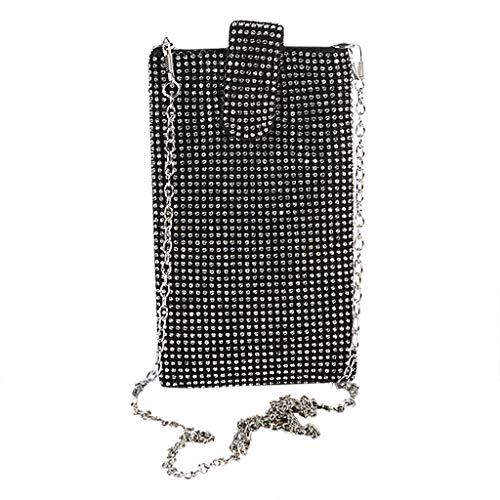Outique Crystal Clutch Purse Women New Evening Bag Diamond Phone Chain Party Clutch Shoulder Cross Bag Handbags