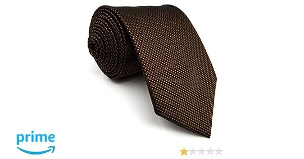 Shlax&Wing Hombre Traje De Negocios Seda Corbatas Para Marrón ...
