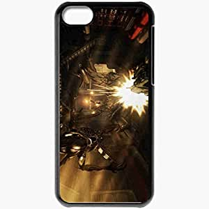 Personalized iPhone 5C Cell phone Case/Cover Skin Aliens Colonial Marines Black