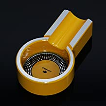 NEW COHIBA Yellow Mini Aluminium Alloy Cigar Cigarette Travel Ashtray Holder