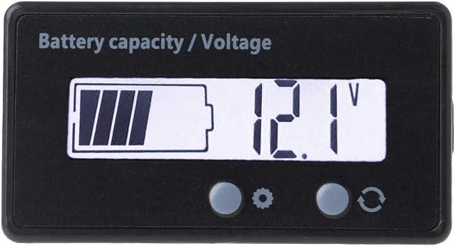 12 V 24 V 36 V 48 V Kapazitätsanzeige Lcd Lithium Akku Kapazitätsanzeige Voltmeter Elektrische Spannung Für Motorrad Scooter Batterietester Baumarkt