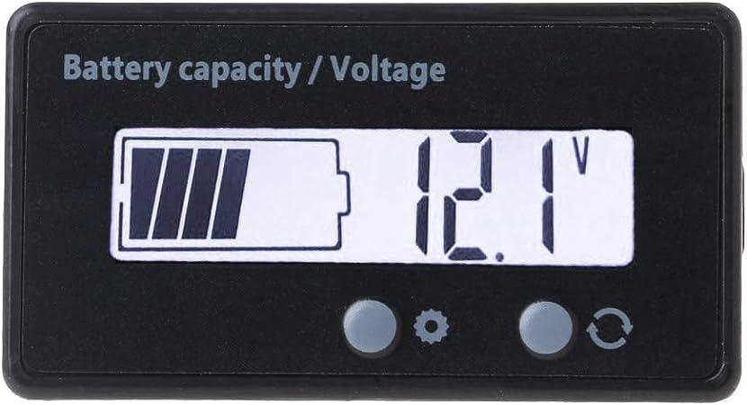 12 V//24 V//36 V//48 V scooter voltmetro indicatore di capacit/à batteria al litio indicatore di capacit/à LCD tester moto tensione elettrica