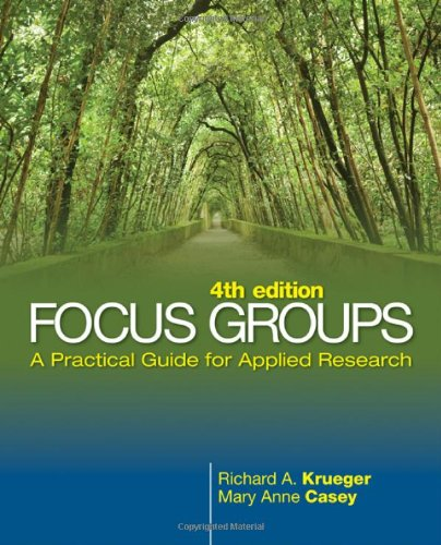 Focus Groups, 4/e : A Practical Guide for Applied Research (Plastic Comb)-cover