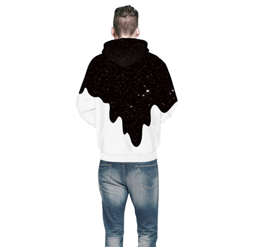 6d87905f917 Amazon.com  Pettstore Fashion Dripping Milk Space Graphic Mens 3D Print  Pullover Hoodies