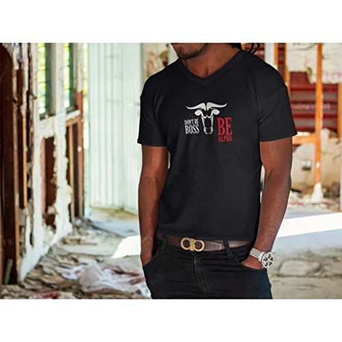 Bulle A Souple Donovan Hommes Pour Pas Soit Patron V p Avec L Xl Sérigraphie Alpha En shirt Soyez Les Le Ne M T Noir Impression Col Matériau prpqw