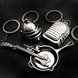 hebensi 4 Pcs Metal Keychain Including Level 3
