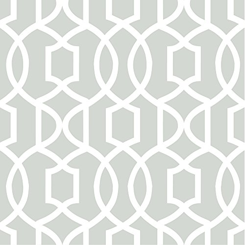 Gray Grand Trellis Peel & Stick Wallpaper