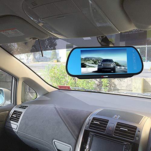 2014-2018 KNRAGHO Transit Van Camera KN0706DM Backup Camera with 7 inch Clip-on Mirror Monitor Compatible for Ford Transit Van 150//250//350 V636