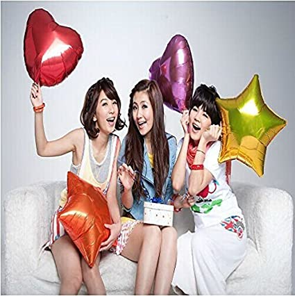 Balloons Kaimo 50 Pack of 5 Heart Shape Mylar Helium Mult Color Birthday Party Decoration Foil
