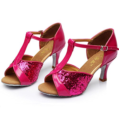 Professional Schuhe 41 Mädchens Des Obermaterial Salsa Dance Latin Pink Frauen Farben Schuh Satin Der Med Sandalen Ballroom weitere TdXtqtw