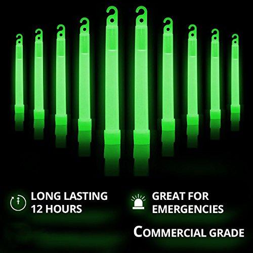 "Cyalume Green Glow Sticks – 12 Hours of Premium Bright Light, 6""..."
