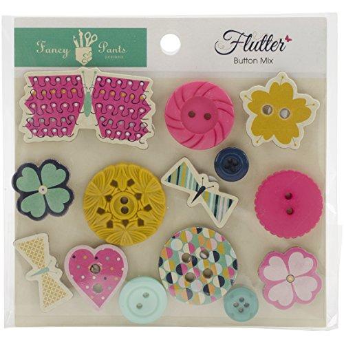 Fancy Pants Designs 2498 Flutter Button Mix Tile Dot Mix