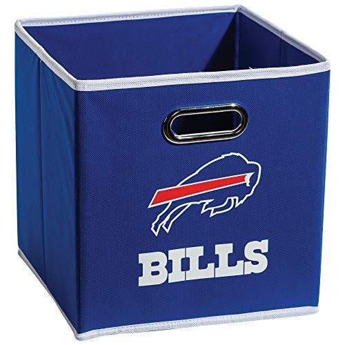 Franklin Sports NFL Buffalo Bills Fabric Storage Cubes - Made To Fit Storage Bin Organizers (11x10.5x10.5