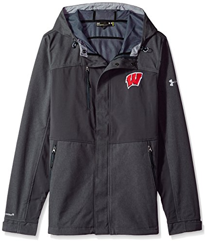 (Under Armour NCAA Wisconsin Badgers Mens NCAA Men's Softshell Jacket, 3X-Large, Gray)