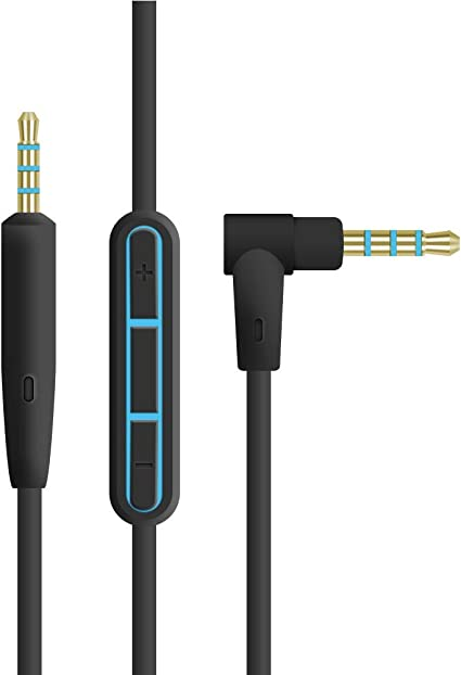 Compatible with iPhone /& Android OEM Replacement Audio Cable with Mic /& Remote for Bose On-Ear 2//OE2//OE2i//QC25//QC35//Soundlink//SoundTrue Headphones Black