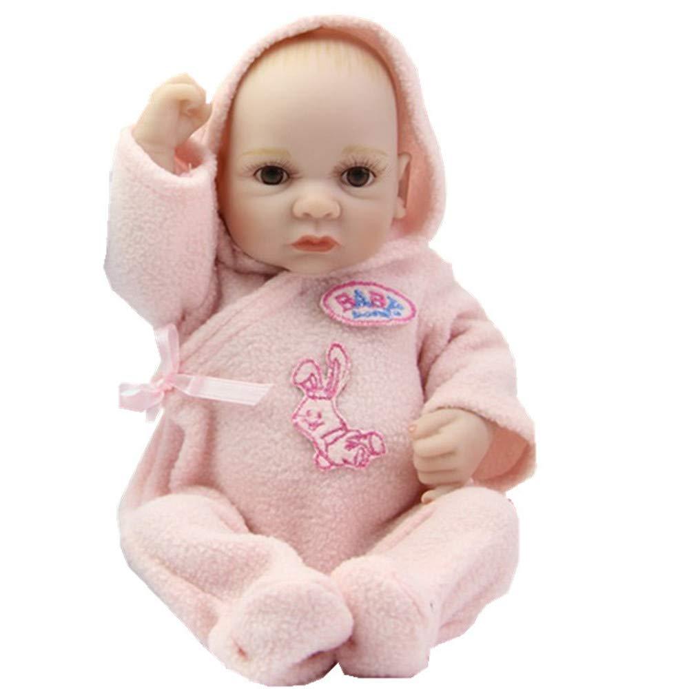Unexceptionable-Dolls Babypuppen,11 Zoll Zwillinge Volle Silikon Vinyl Echt Aussehende Junge Und Mädchen Babys Günstige Mini Nette Puppe Kinder Geburtstagsgeschenk, Zwillinge Rosa