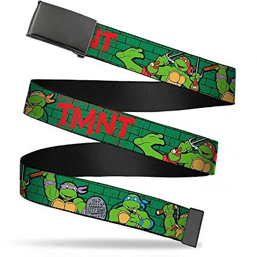 - Buckle-Down Big Web Belt Ninja Turtles, Classic Tmnt Group Pose2/Tmnt Green Brick Wall, 1.0