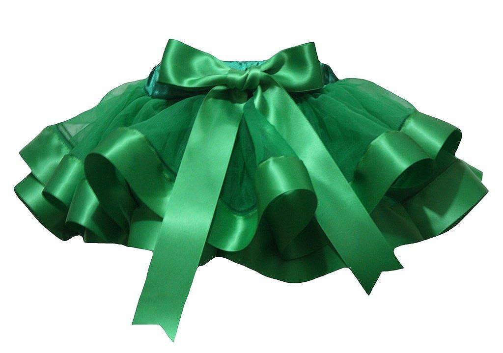 Petitebella Dress Kelly Green 4 Layer Ribbon Girl Petal Skirt Nb-8y