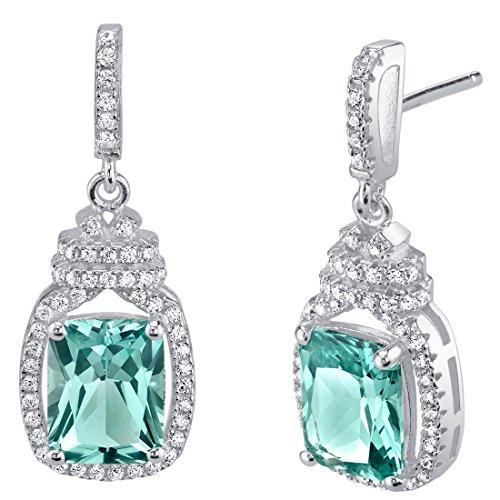 Peora College Graduation Gift for Her, Sterling Silver Earrings, Simulated Paraiba Tourmaline for Women, Daughter