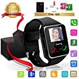 Smart Watch Bluetooth Smartwatch with Camera TouchScreen SIM Card Slot, Waterproof Phones Smart Wrist Watch Compatible with iPhone Android Samsung Huawei Sony for Kids Men Women (X Black Smart Watch)