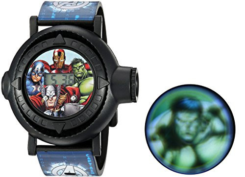 Marvel Boys' Analog-Quartz Watch with Plastic Strap, Blue, 24 (Model: AVG3516) -