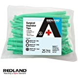 Surgical Aspirator Tips Green Autoclavable 1/8'' Diameter 125 Pieces/Pack RED-ST-1023
