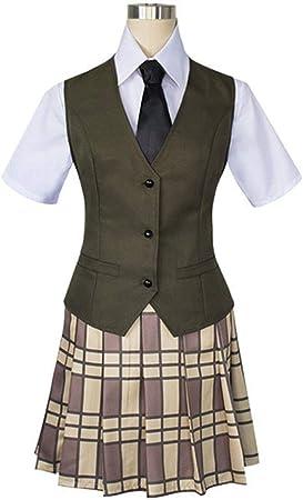 YKJ Trajes de Cosplay de Anime Camisa con Lazo Falda Chaleco Suéter Ropa Diaria Conjunto Completo,Style One-L: Amazon.es: Hogar