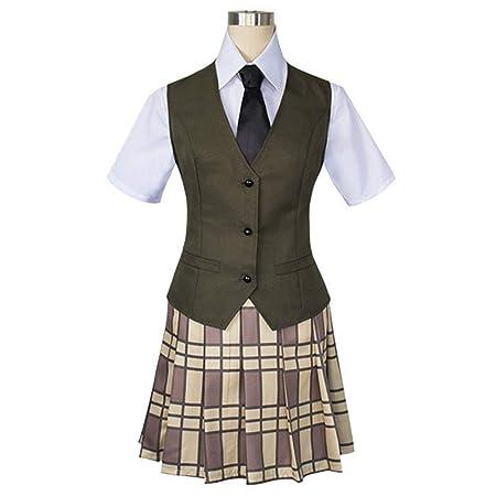 YKJ Trajes de Cosplay de Anime Camisa con Lazo Falda Chaleco ...