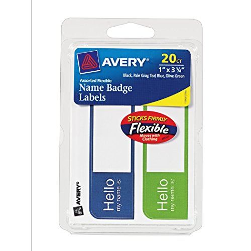 Avery Flexible Labels Assorted Colors