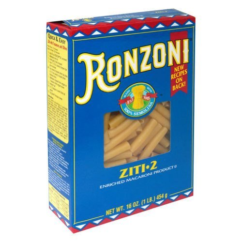 Ronzoni Ziti Pasta 16 oz (Pack of 15)