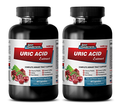 weight loss products - URIC ACID FORMULA EXTRACT 1430Mg - kidney support for men - 2 Bottles (120 Capsules) by Sport Supplements