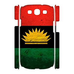 3D [National Flags] Grunge Flag of Biafra Cases for Samsung Galaxy S3, Samsung Galaxy S3 Case {White}