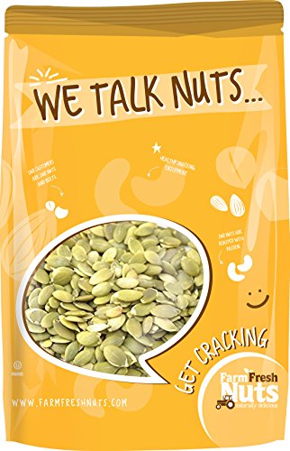 Farm Fresh Nuts Pepitas/Pumpkin Seeds Roasted Unsalted (1 LB)