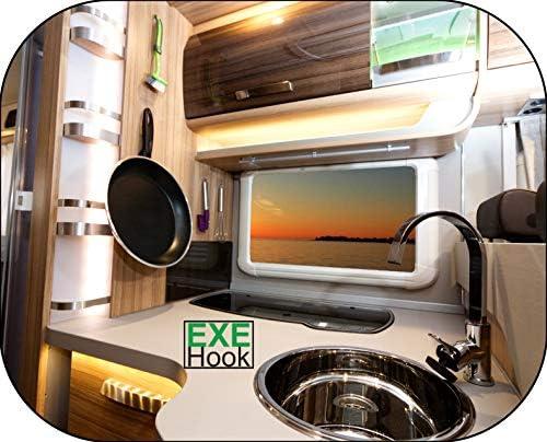 Lote de 6 ganchos de pared con ventosa para cocina TF Handel ba/ño o caravana transparente 3 kg mate
