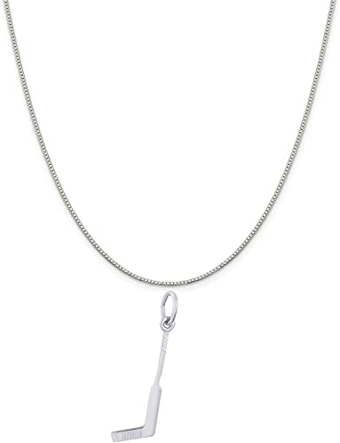 Box or Curb Chain Necklace 18 or 20 inch Rope Rembrandt Charms Sterling Silver Heart with Key Charm on a 16