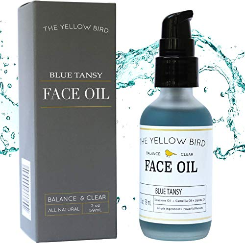 (Balancing Blue Tansy Face Oil – Skin Brightening Serum. Anti Aging Collagen Support. Acne Fighting Dark Spot Corrector. Wrinkle & Pore Minimizer. Natural, Vegan Facial Moisturizer.)