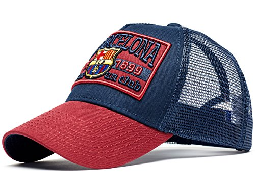 9cef04016 Atributika & Club FC Barcelona Patch Trucker Hat, Dark Blue/Maroon