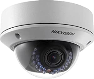 HIKVISION HD Smart 2 Megapixel PoE Dome IP Outdoor Surveillance Camera, 2.8mm - 12mm Zoom Lens, White (US Version)