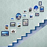 Home@Wall photo frame Stairs Decorative Paintings, Photo Gallery Frames Sets Of 16 Restaurant Painting Wall Paintings Sofa Background Wall Decorative Paintings Painting ( Color : B )