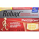 """Robax HeatWraps (3 Count), Thermacare Lower Back & Hip, S - XL, Non-medicated Pain Therapy"""