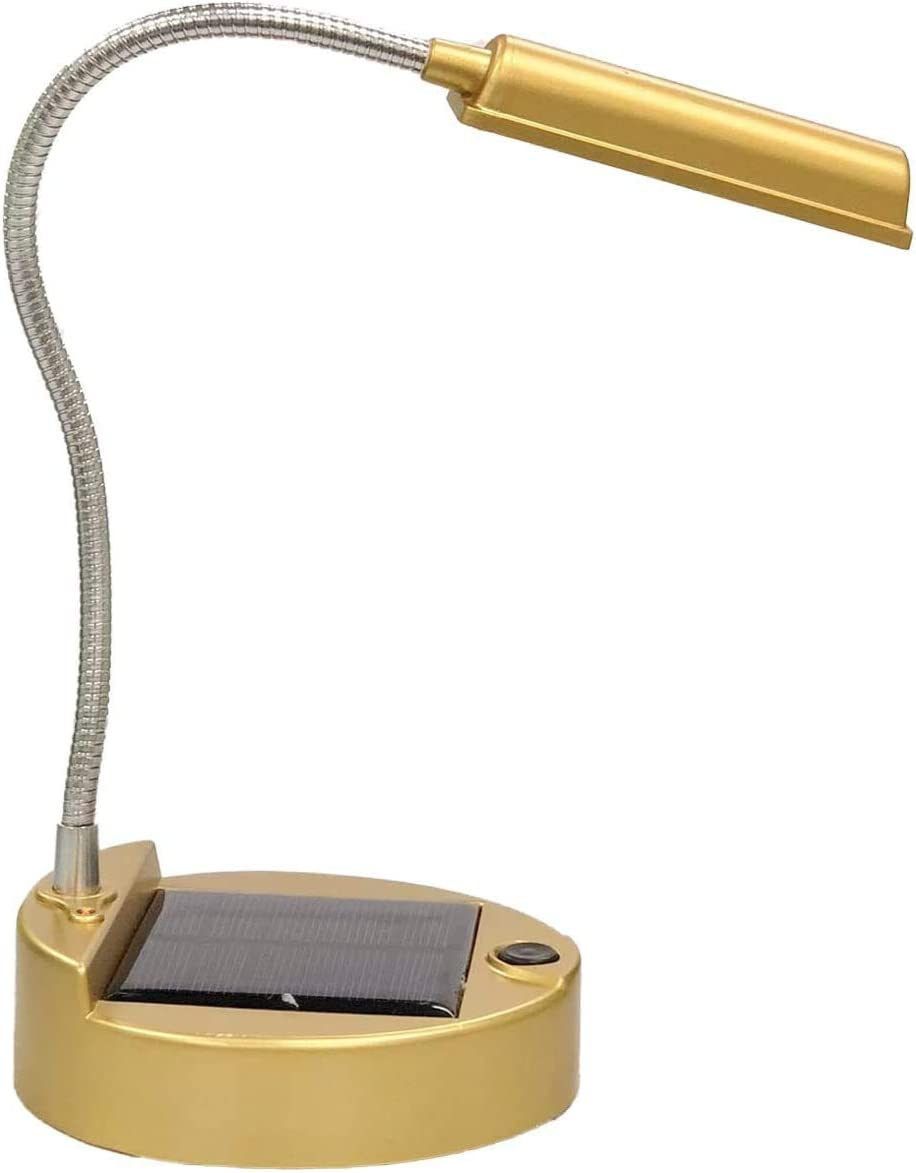 Amazon Com Rechargeable Solar Lamp Amzstar Portable Flexible Super Bright 4 Led Solar Desk Lights Indoor Reading Lighting Outdoors Or Camping Gold Home Improvement