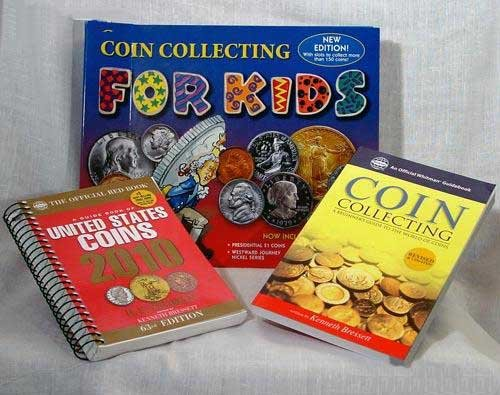 Kid's Coin Collecting Kit Includes Coin Album & Two Books