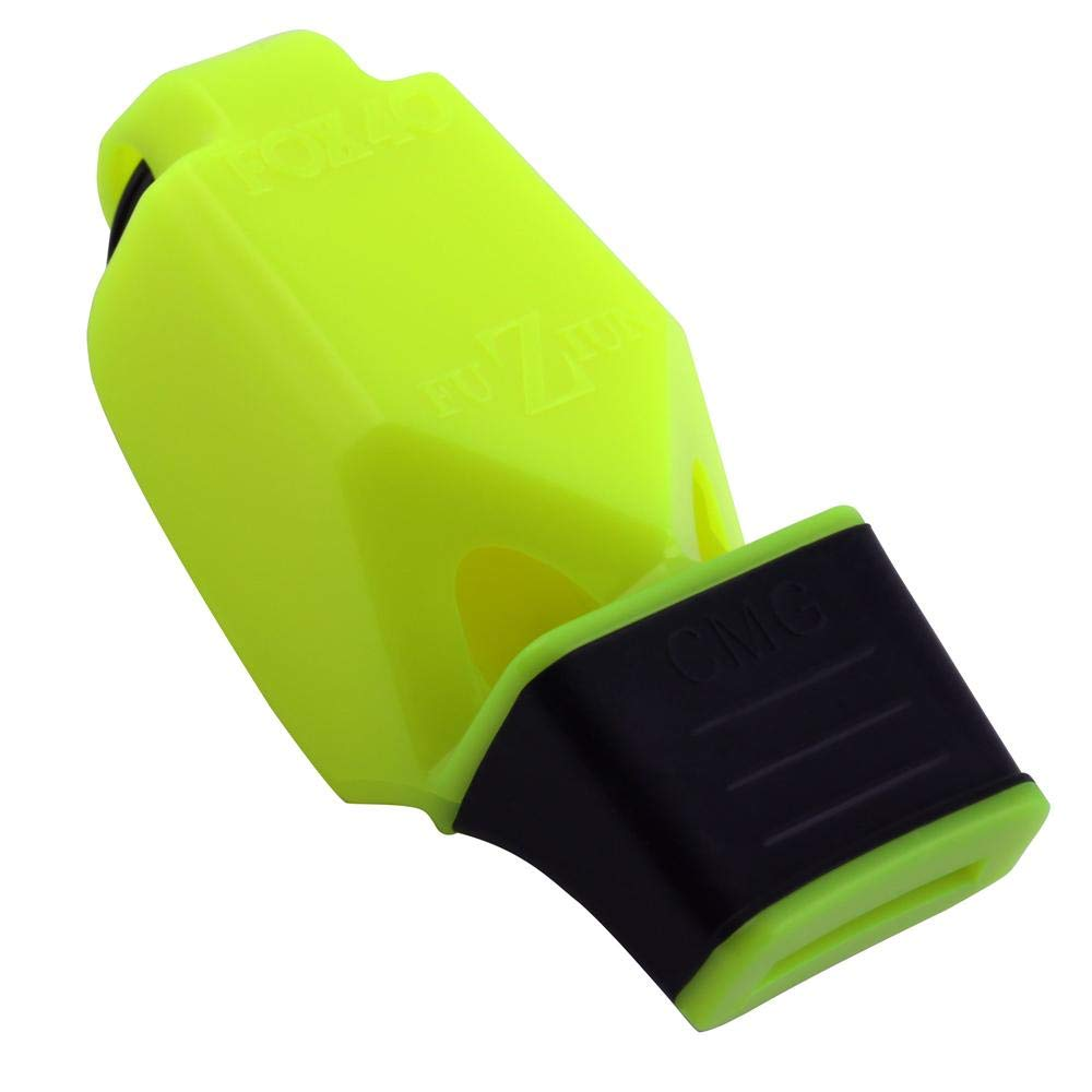 Fox 40 FUZIUN CMG Whistle with Breakaway Lanyard (Neon Yellow) by Fx 40