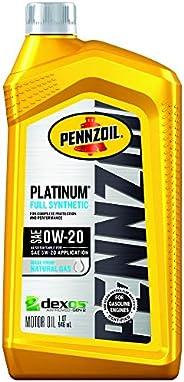 Pennzoil - 550036541 Platinum Full Synthetic Motor Oil (SAE, SN) 0W-20, 1 Quart - Pack of 1