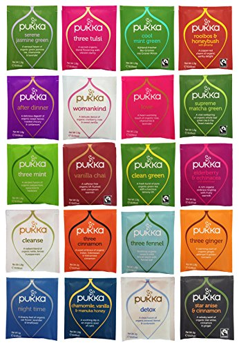 Pukka Tea Organic Variety Pack with 20 Flavors, 2 of Each (40 Count), Includes The Curated Pantry Gift ()