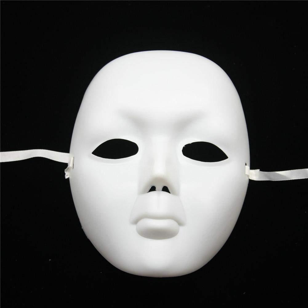 M/áscara de Halloween De Cara Completa M/áscara Pintada A Mano Accesorios De Cosplay Blanco para Fiesta De Baile de Disfraces de Halloween De 10pcs Mascara Blanca